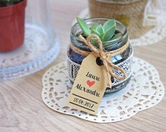 Lot d'étiquettes Américaines Kraft 5 cm x 2,5 cm (mariage, cadeaux, DIY) Save the Date - Lot de 50 - 100 - 200