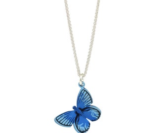 Butterfly Pendant and Chain - Large