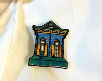 New Orleans Shotgun House in Blue and Teal – Kerlerec St. Pin
