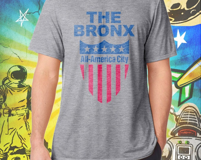 The Bronx / All America City / Men's Gray Performance T-Shirt