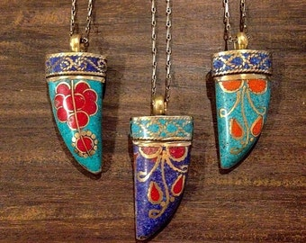 Colorful Tusk Necklace