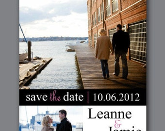 Two-Picture Save the Date Card - Printable/Customized