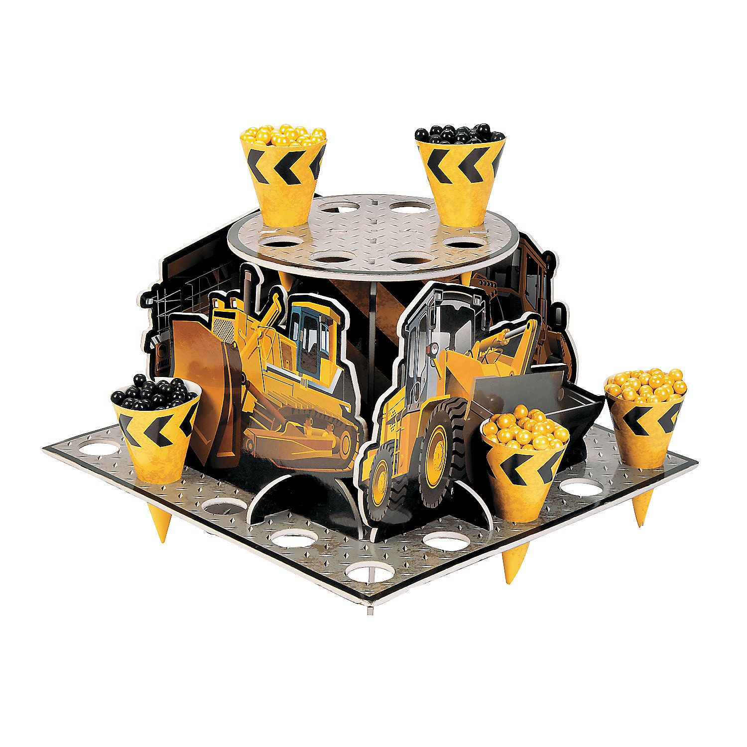 1 dumptruck treat stands construction party theme cupcake for Construction stand