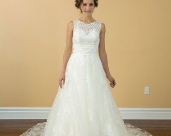 4 in 1 wedding dress with detachable skirt and cover lace top