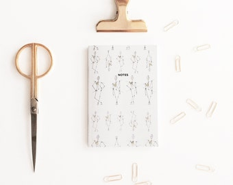 Pocket notebook, Contemporary Stationary, A6 notebook, Lined notebook, Mini notebook, A6 planner, Travel notebook, Mini Journal, Jotter