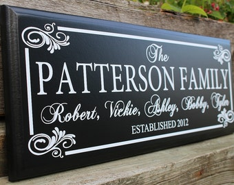 Last name family sign-parents of the bride gift-personalized wood sign-wall plaque established sign-custom-home-family name sign-gift-home
