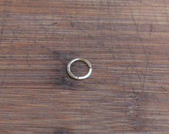 Septum Ring Hammered Gold Fill Seamless Hoop - Nose,Cartilage,Helix,Tragus,Rook,- 100% Recycled Gold Conflict Free