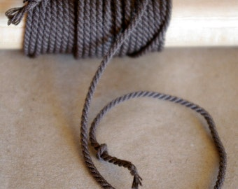 Miniature Rope for Ship Models / doll houses / miniatures / handmade color brown
