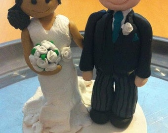 Cake Topper - 2 Figures with base and lettering