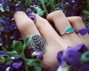 Lavender Branch Ring (Sterling Silver)