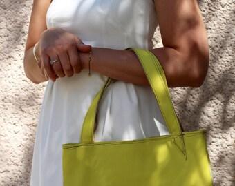 lemon yellow basket bag