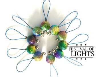 stitch markers for Knitting -  FESTIVAL of LIGHTS