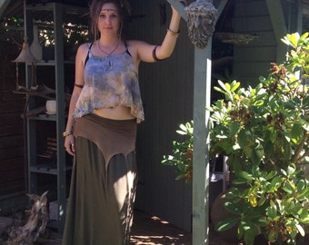 Cute Hand Dyed Crop Pixie Top, Tank Top