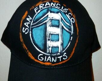 San Francisco Giants Baseball Cap-Hand Painted