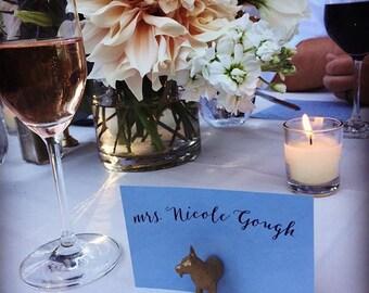 Wedding escort card holder, menu holder or wedding invitation holder (custom quantities available)