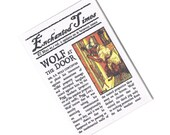 Three Little Pigs & the Big Bad Wolf, Fairytale Newspaper - Enchanted Times Mini Zine, whimsical fractured fairytale fiction, humour, satire