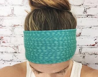 Yoga Headband - Turquoise - Mottled - Eco Friendly