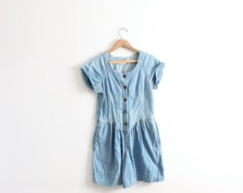Girly Denim 90s Romper