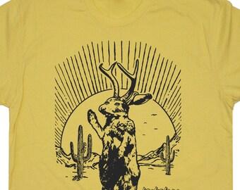 Jackalope T Shirts Funny UFO Giant Cactus Vintage
