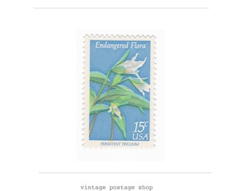 10 Unused Vintage Postage Stamps - 1979 15c Endangered Flora Trillium - Item No. 1783