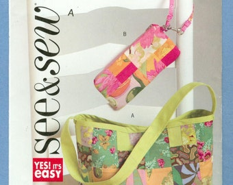 2006 Fat Quarters Lined Handbags -  Butterick See & Sew Sewing Pattern 4839