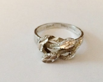 Size 7 Sterling Silver Textured Knot Ring