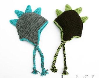 Dinosaur Hat, Baby Dino Hat, Halloween Dinosaur Hat, Toddler Dinosaur Hat, Newborn Hat, Preemie Hat, Photo Prop
