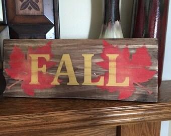 Rustic Wall Decor - Fall - Wood Wall Decor - Fall Sign - Fall Decor - Rustic Wall Art - Wood Wall Art