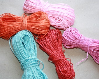 Pink Paper Twine = 30 Yards = 27 meters for weddings, crafting, gift wrapping, packaging