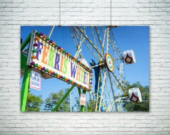 Carnival Photography, Nursery Wall Art, Ferris Wheel Art, Kid Room Decor, Art for Child, Children Carnival Art Print, Fine Art Photography