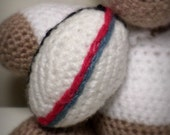 Crochet Rugby Ball (7.5cm x 5cm)