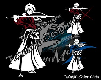 Himura Kenshin Vinyl Decal (Rurouni Kenshin Series) *Mulit-Color Version*