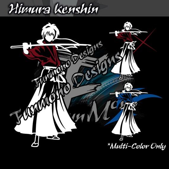 Rurouni Kenshin Season 1: Himura Kenshin Vinyl Decal Rurouni Kenshin Series