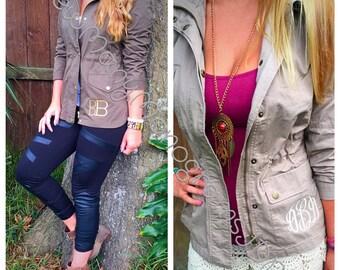 Monogrammed Safari/cargo womens jacket