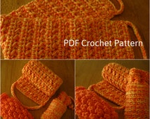 Crochet Spa Set Pattern,Back Scrubber and Soap Holders,Crochet Bath Set Pattern,Back Scrubber Pattern,Bath Accessories,Bath Soap,5.47