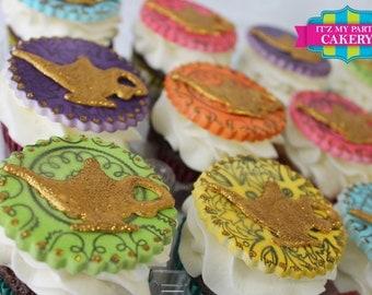 Genie Lamp Cupcake Toppers - 1 Dozen