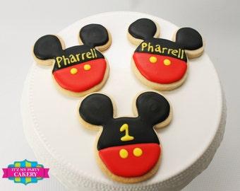 Mickey Mouse Cookies - 1 Dozen