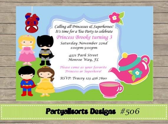 items similar to 194 diy   superhero tea party