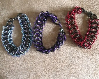Chain maille bracelet selection