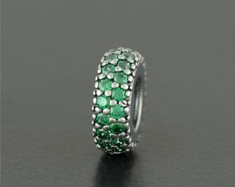 Authentic Genuine Pandora Sterling Silver Inspiration Within Green Charm - 791359CZN NEW