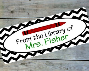 Classroom Library Labels This Book Belongs to Labels Personalized Library Labels School Library Labels Classroom Organization