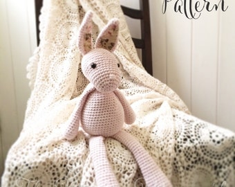 Florence the Vintage Bunny Amigurumi Crochet Pattern PDF E-Book Rabbit Toy