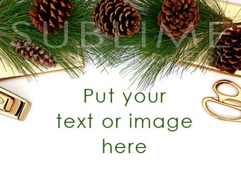 Christmas Styled Stock / Christmas Stock / Christmas Background / Christmas Mock Up / Christmas Desktop / Christmas Photo / StockStyle-536