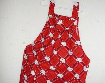 Plaid Hello Kitty girl's apron/pinafore