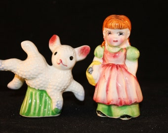 Mary had a little lamb salt and pepper shakers