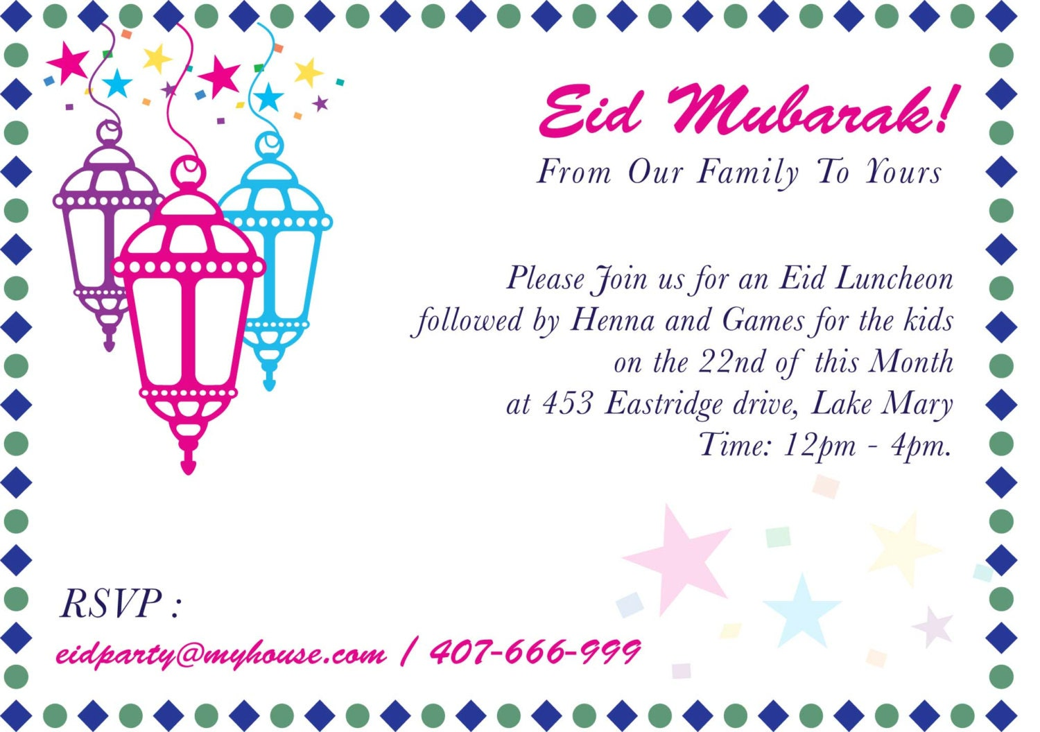 Ethnic design card baby shower card bridal shower card eid party invitation eid mela islamic events mosque fund raiser ethnic events stopboris Image collections