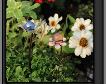 Flower Gazing Balls,flower picks, pot decoration