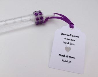 Wedding Bubble Wands: Wedding Favors/ Wedding Bubbles, Purple Wedding Bubbles