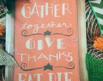 READY TO SHIP- Thanksgiving Wreath