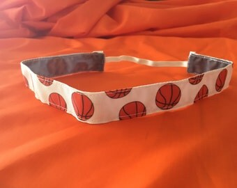Get in the Game! Basketball/white headband 7/8""